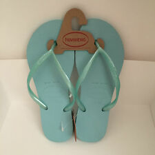 NEW ARRIVAL! HAVAIANAS SLIM ACQUA GREEN SLIPPERS FLIPFLOPS SANDALS 37 38 USA 7/8