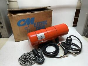 CM Lodestar Electric Chain Hoist 1/4 Ton 10ft Lift 16 FPM Model B 110/120V *New*