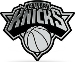 New York Knicks Auto Emblem Silver Chrome Color Raised Molded Decal Basketball