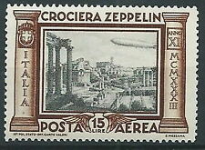 1933 REGNO POSTA AEREA ZEPPELIN 15 LIRE MNH ** - T61