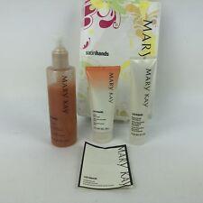 Mary Kay Satin Hands 3 Pieces Peach -  Scrub, Cream,  Softener, 85%  Open items.