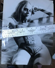 """1970s 11x14"""" original photo of nude San Francisco hippy woman with painted body"""