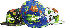 SUPREME Currant 5-Panel Black box logo camp cap tnf candy floral S/S 15