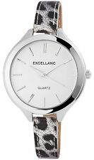 Women's Quartz Watch White Silver Analogue Leopard LOOK Metal G-60412118533600