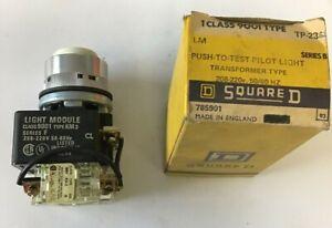 SQUARE D 9001 TP-23G2 PUST TO TEST PILOT LIGHT 208-220V SER.B TRANSFORMER TYPE