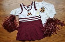 CHEERLEADER COSTUME HALLOWEEN MINNESOTA GOPHERS OUTFIT POM POMS 4 4T CHEER