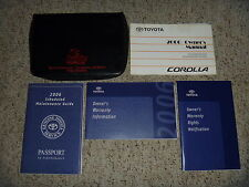 2006 Toyota Corolla Owner Operator User Guide Manual CE S LE XRS 1.8L 4-Cylinder
