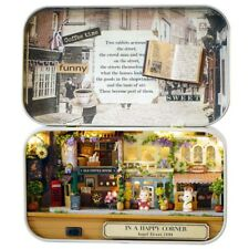 3D DIY Handcraft Doll Box Theatre Dollhouse Miniature Furniture Kit Tin Box UK