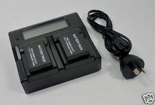 2x Battery + Charger LP-E17 LPE17 EOS M3 M6 750D 77D T6i T6s 8000D Kiss X8i 800D