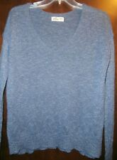 Hollister Knit Long Sleeve Sweater Top Thin  women's XS/S Blue Great Condition