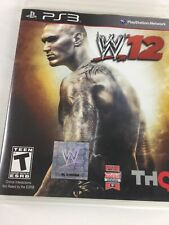 WWE 12 PS3 Sony PlayStation 3 2011 Wrestling Video Game