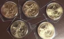 2013 D Sacagawea Delaware Dollars from Mint Sets x 5