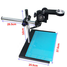 Industrial Microscope Stereo Table Stand + Heat Insulation Silicone Solder Pad S