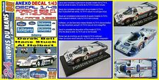 ANEXO DECAL 1/43 PORSCHE 962 C1 BELL STUCK HOLBERT LEMANS 1986 (01)