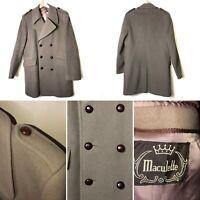 Vintage Maculette Size 38 M Camel Wool Pea Coat  Reefer Peaky Blinders Mens