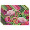 Set of 4 30x45cm Flamingo Tropical Design Rectangle Placemats Table Mats Dining