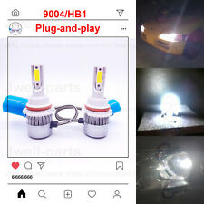 9004 HB1 LED Headlight Bulbs Conversion Kit High Low Beam 55W 6000K Clear White