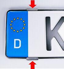2x Kennzeichenhalter Rahmenlos Nummernschildhalter Edelstahl für 1 Kennzeichen