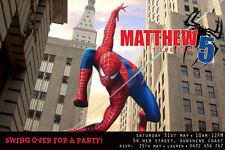 Spiderman Birthday Invitation Any Age-We Print/Print Yourself