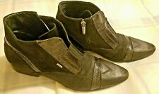 Vero Cuoio Mens Black Leather Ankle boots Made In Italy Size US 9.0 EU 40