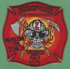 MEMPHIS TENNESSEE FIRE DEPARTMENT TRUCK COMPANY 2 PATCH SKULL