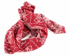 GUESS Not Coordinated Scarf Schal Tuch Accessoire Red Rot Beige Neu