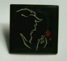 """Disney Beauty & the Beast with Rose Broadway Musical Black Logo Pin 1"""""""