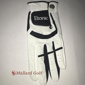 1 Left Cadet Men's Etonic Stabalizer Fit Sport Golf Glove [S,M,ML,L,XL,2XL]White
