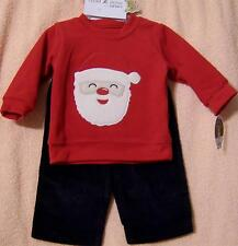 3-6M Carter's Child of Mine Infant Baby Boy Christmas Clothes Top Pants Set NWT