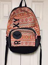 Roxy Backpack Surfer Beach Pink Orange Aqua IKAT Tribal Aztec Bag