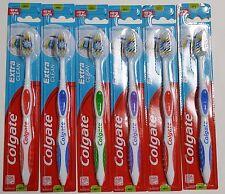 6 Colgate Toothbrush Extra Clean Full Head MEDIUM  #97 Brushes NEW
