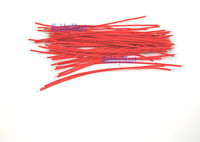 Electronics wires 1007 18 AWG Red 150mm end Tin solder bare for Connector x 50