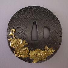 Japanese Sword Collar- Tsuba (Sakamoto Kuma- Tiger Lion)