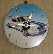 1966 Ford Shelby Mustang Fastback (white) CD Clock