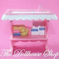 Fisher Price Loving Family Dollhouse Pink Baby Doll Changing Table Nursery Girl