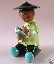 1.v2: Keramik Figur Chinese Junge Gretl Braun Wien Gudrun Baudisch Austria ~1950