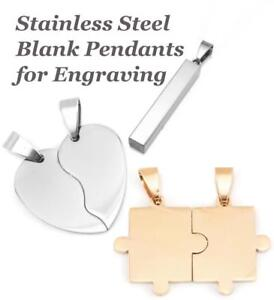 Stainless Steel Metal Stamping Engraving Pendant Blanks Choose Colour Shape Size