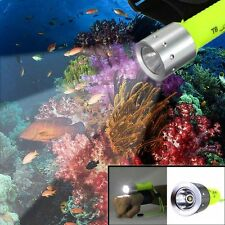 Underwater Diving Flashlight 2500LM CREE XM-L T6 LED Waterproof Torch 18650 Lamp