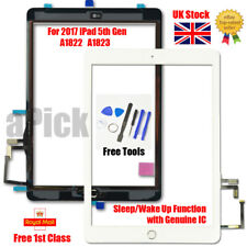 More details for for 2017 ipad 5th gen a1822 a1823 touch screen digitizer replacement + ic white