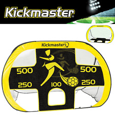 """NEW 2017"" KICKMASTER QUICK UP POP UP GOAL +DETACHABLE FOOTBALL SKILLS TARGET"