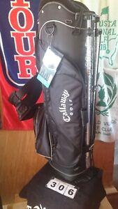 Callaway STS Mini Golf Stand Bag - Black with Silver Trim - Rain hood