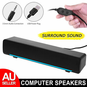 USB Wired Computer Speakers Stereo Sound Bass Speaker Subwoofer For TV PC Laptop