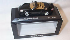 Porsche 911Turbo cabriolet Dark Green metallic 1-43 Scale Ltd edition New in Box