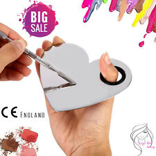 Pro Stainless Steel Love Heart Makeup Eye Nail Mixing Palette Spatula Tool UK