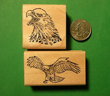 American Eagle Rubber Stamp Combo, two wood mounted