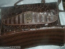 Large Latique Alligator Purse or Handbag Shoulder / Hand