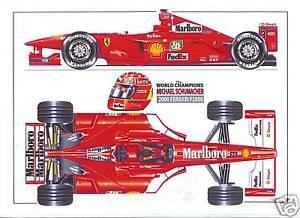 Michael Schumacher ltd.ed.art print -2000 Ferrari F2000