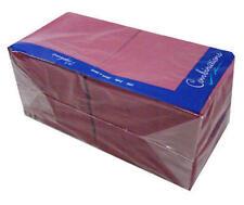 More details for cocktail napkins burgundy 24cm x 24cm - pack of 200