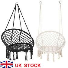 More details for uk hanging hammock chair outdoor&indoor garden patio rope net swing macrame seat
