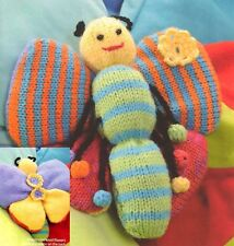 (705) Toy Knitting Pattern for Colourful Butterfly in DK